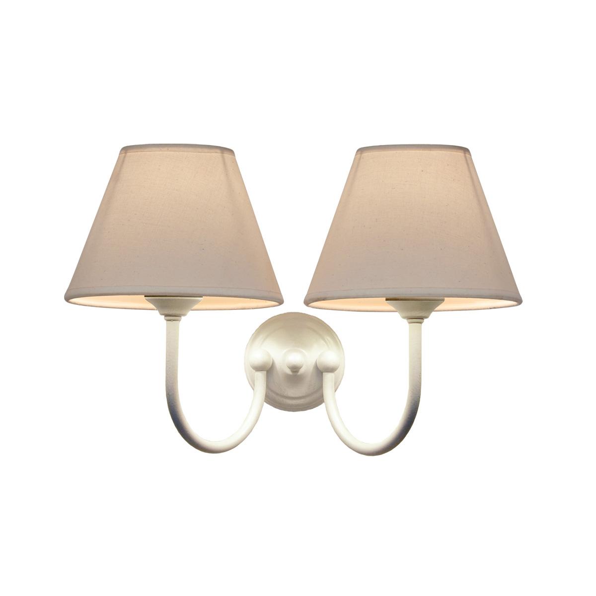 2φωτη ρουστίκ απλίκα με καπέλο ΝΑΞΟΣ-2 2-bulb rustic wall lamp with shades