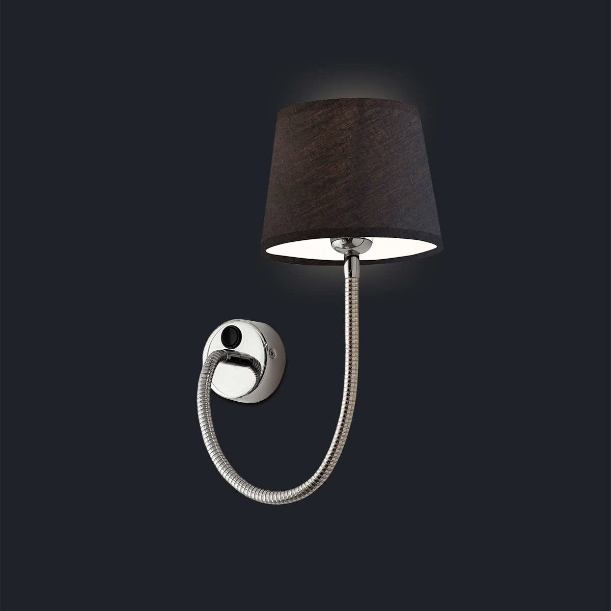 Wall Lamp With Attached Switch And Shade