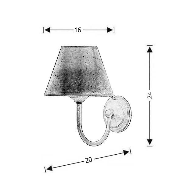 Φωτιστικό τοίχου με καπέλο | ΝΑΞΟΣ-1 - Σχέδιο - Φωτιστικό τοίχου με καπέλο | ΝΑΞΟΣ-1