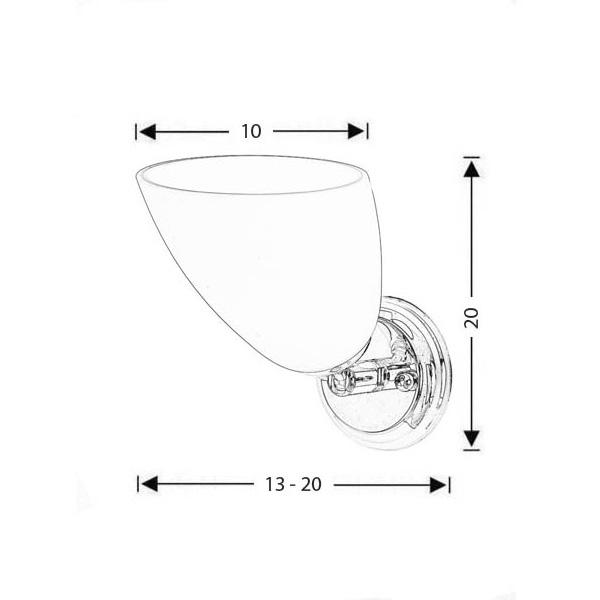 Modern Murano wall lamp | SOMBRERO - Drawing - Modern Murano wall lamp | SOMBRERO
