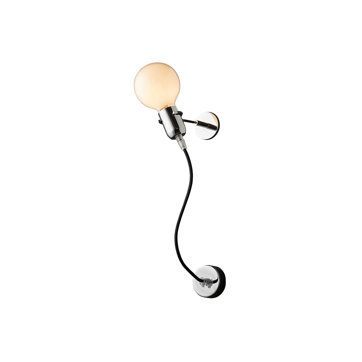 Μοντέρνα απλίκα με μαύρο καλώδιο ΚΑΛΩΔΙΑ modern black wall lamp