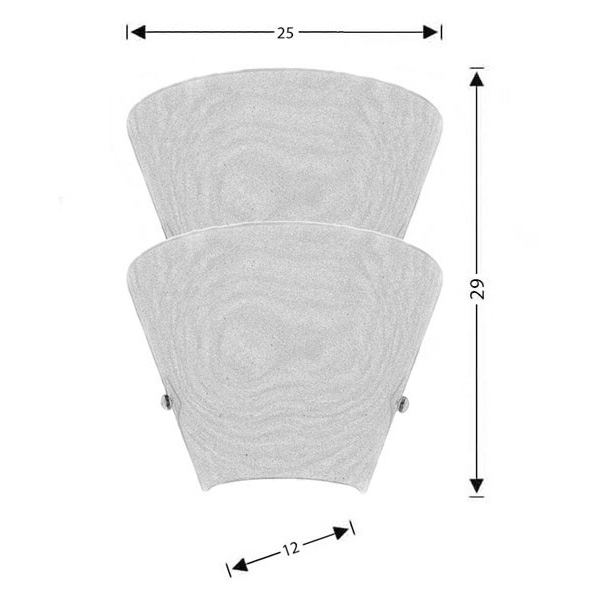 Modern wall lamps | CONES - Drawing - Modern wall lamps | CONES